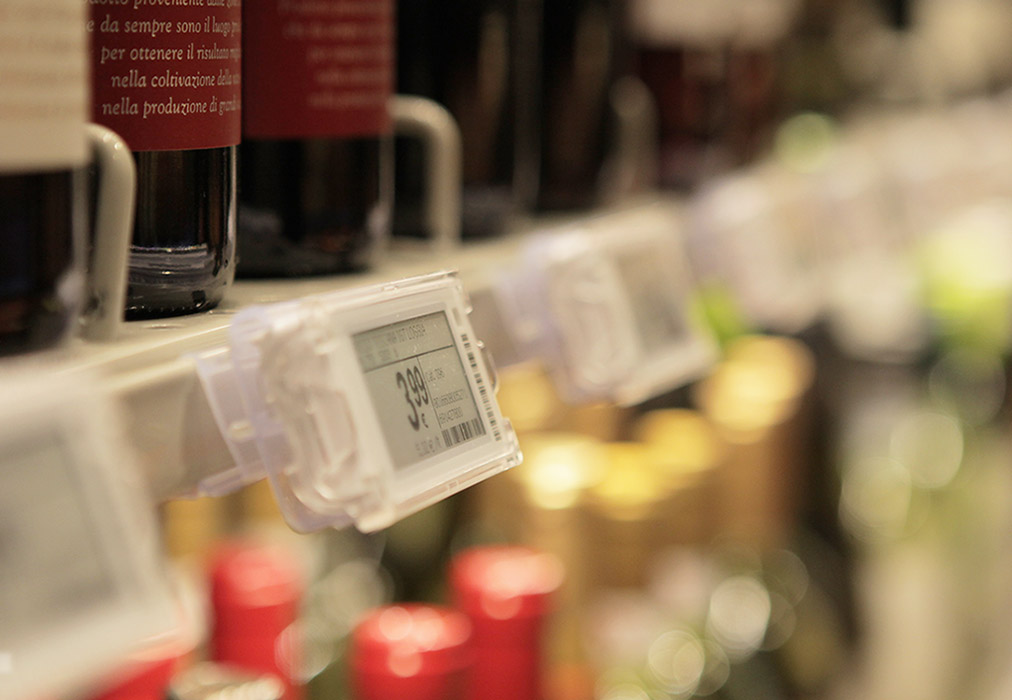 Nicolis Project | in-store digital communication esl_vini Electronic Shelf Labels