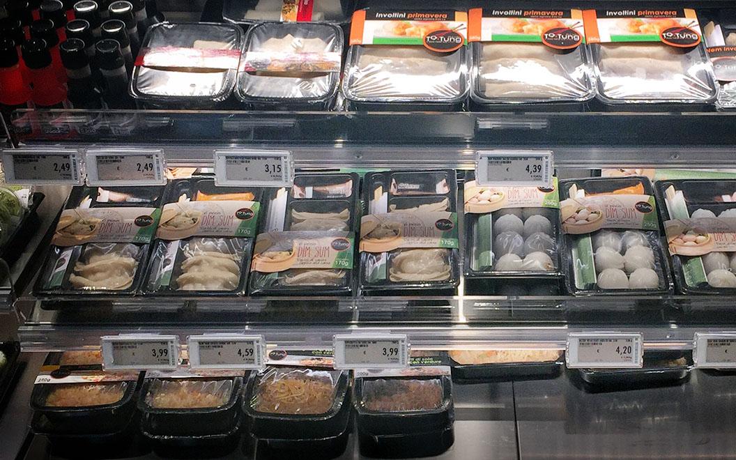 Nicolis Project | in-store digital communication etichette-elettroniche-supermercato-frigo Le etichette elettroniche interattive all'ipermercato Bennet nel centro commerciale Mondojuve