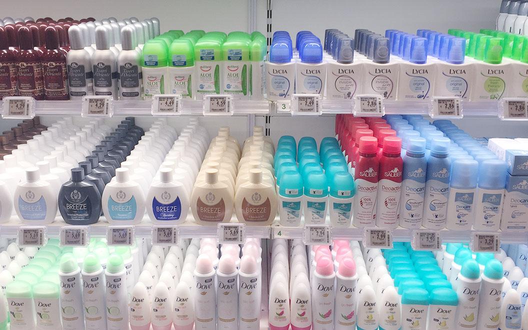 Nicolis Project | in-store digital communication etichette-elettroniche-supermercato-profumeria Le etichette elettroniche interattive all'ipermercato Bennet nel centro commerciale Mondojuve