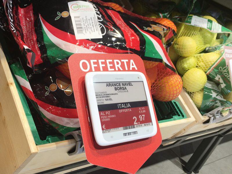 Nicolis Project etichette-elettroniche-bg33-800x600 La etiqueta electrónica en la sección frutas y verduras. Todas las ventajas de funcionamiento y las nuevas posibilidades de comunicación