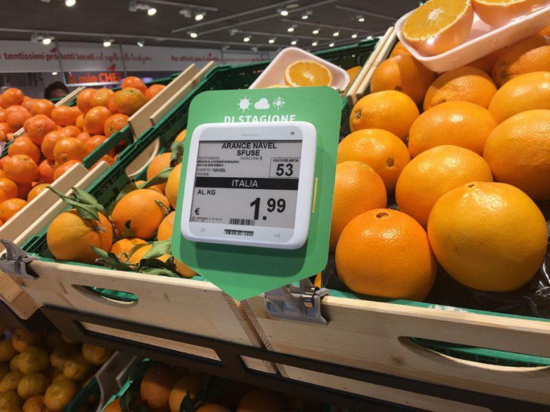 Nicolis Project etichette-elettroniche-led-large-800x600 La etiqueta electrónica en la sección frutas y verduras. Todas las ventajas de funcionamiento y las nuevas posibilidades de comunicación