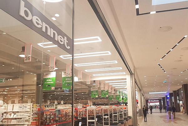 Nicolis Project | in-store digital communication bennet-chivasso Bennet porta l'innovazione in-store nell'ipermercato del centro commerciale Chivasso