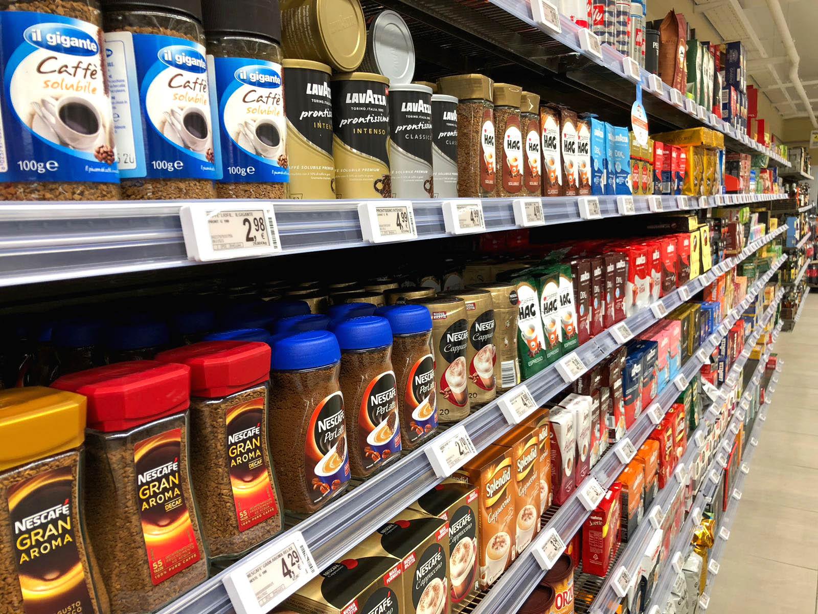 Foto Scaffali Supermercati.Etichette Elettroniche In Due Supermercati Storici Il