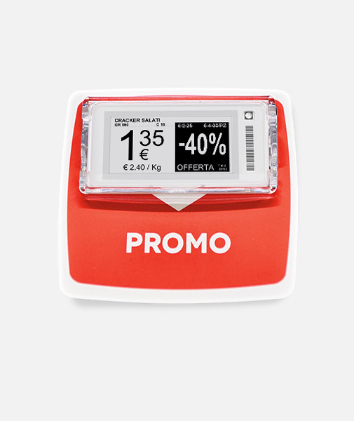 Nicolis Project | in-store digital communication Stop-rayon-pour-étagères Systèmes de fixation pour les étiquettes électroniques