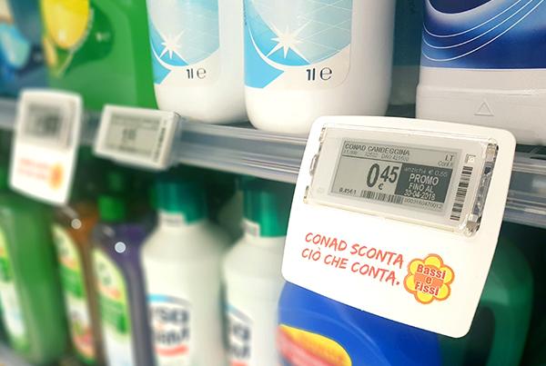 Nicolis Project | in-store digital communication etichette-elettroniche_bsystem3 Conad investe nella fidelizzazione della clientela adottando nel supermercato di Ortisei le etichette elettroniche interattive e bsystem3