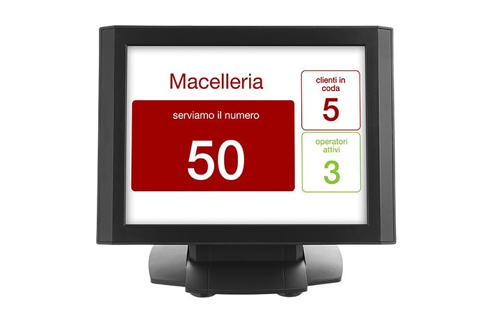 Nicolis Project | in-store digital communication schermata_operatore Come sostituire l'eliminacode con il digital signage e migliorare l'operatività del supermercato