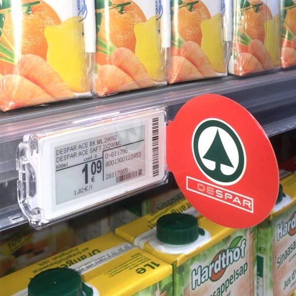 Nicolis Project | in-store digital communication etichette-elettroniche-eurospar_square Electronic shelf labels and bsystem3 improve communication and productivity at Eurospar Bardolino