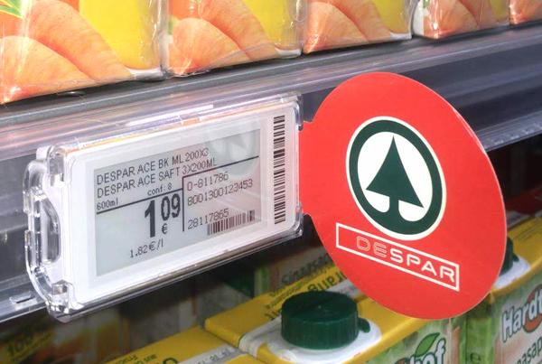Nicolis Project | in-store digital communication etichette-elettroniche-supermercato Le etichette elettroniche e bsystem3 migliorano la comunicazione e la produttività all'Eurospar di Bardolino