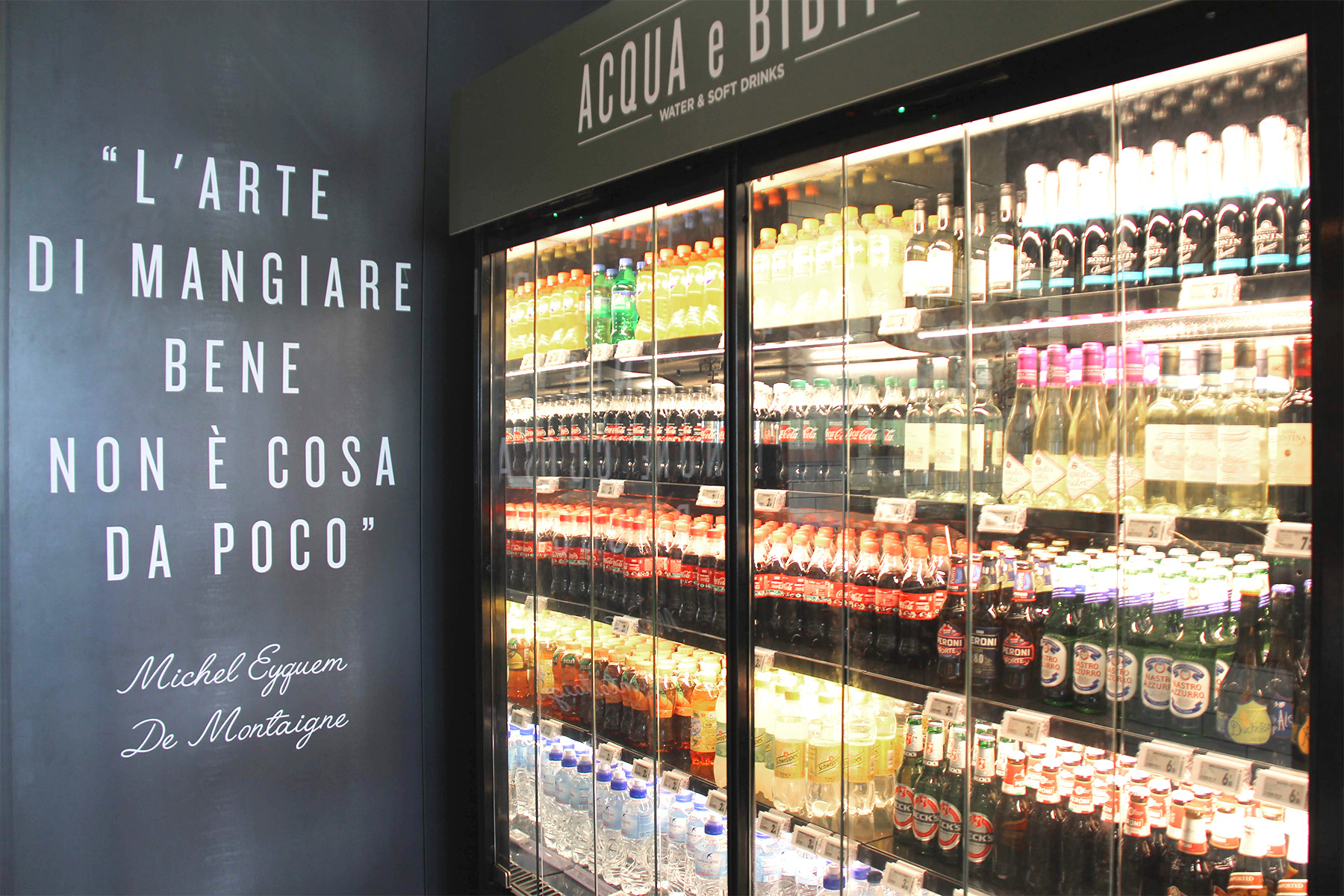 Nicolis Project | in-store digital communication etichette-elettroniche-banco-frigo Gruppo Cremonini adopts Electronic Shelf Labels for its Chef Express restaurants at RHO (Milan) and Villarboit (Vercelli)