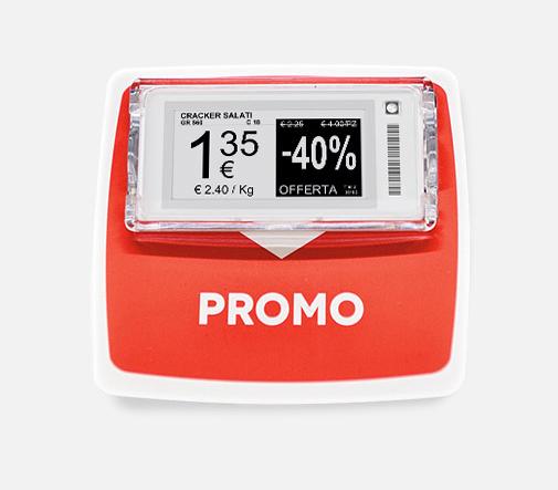 Nicolis Project | in-store digital communication Stop-rayon-pour-étagères Tigros e Iperal installano 350.000 etichette digitali in 27 punti vendita