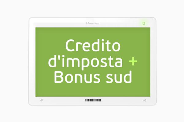 Nicolis Project | in-store digital communication nicolisproject-credito-imposta-bonus-sud-thumb Home