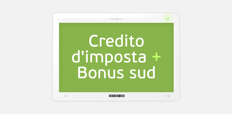 Nicolis Project | in-store digital communication nicolisproject-credito-imposta-bonus-sud Credito d'imposta e Bonus Sud per le aziende che investono in tecnologia