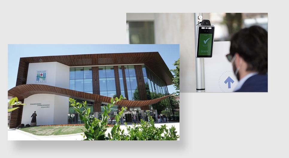 Nicolis Project | in-store digital communication ospedale-negrar-basfe bsafe | Metti in sicurezza i luoghi con i termometri a distanza