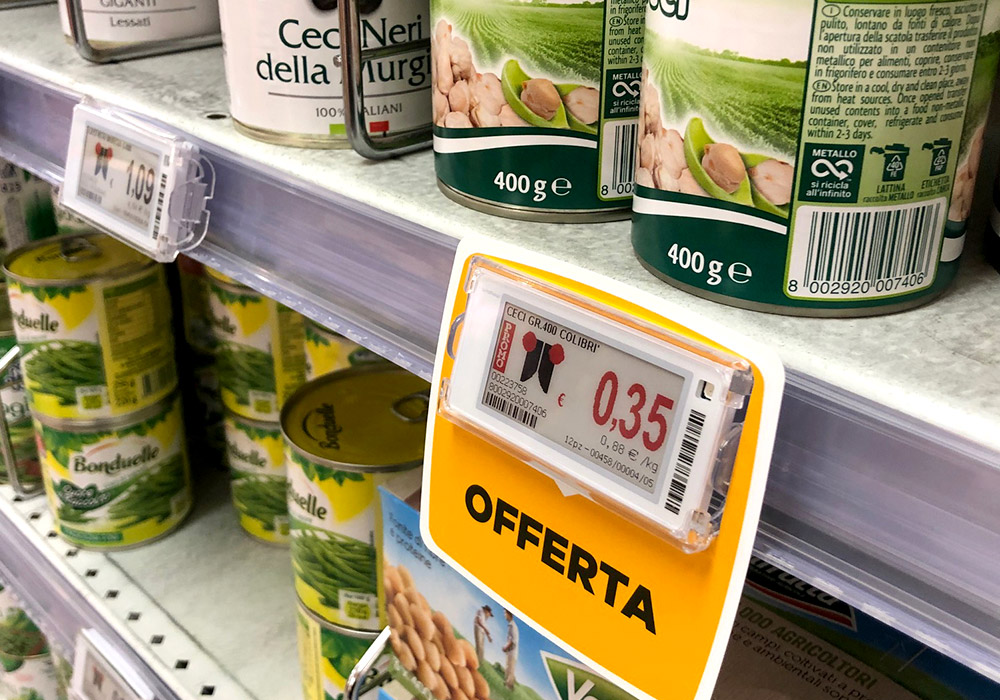 Nicolis Project   in-store digital communication nicolisproject-rossetto-4 La qualità Rossetto è anche nel servizio: nei punti vendita arrivano le etichette elettroniche