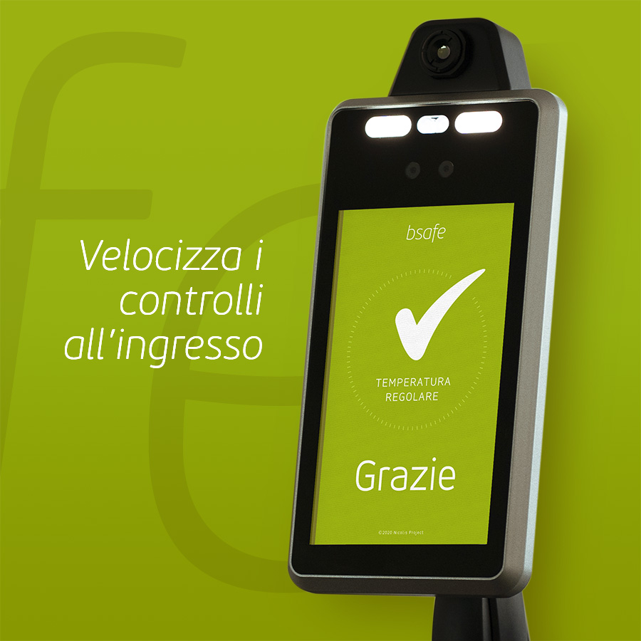 Nicolis Project | in-store digital communication bsafe-multi-temperatura-ok-3 bsafe | Metti in sicurezza i luoghi con i termometri a distanza