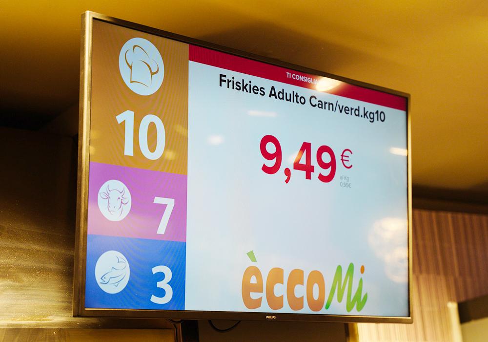 Nicolis Project | in-store digital communication nicolisproject-Coal-Fossato-di-Vico-5 COAL sceglie Nicolis Project e la comunicazione digitale per il nuovo supermercato eccoMi a Fossato di Vico