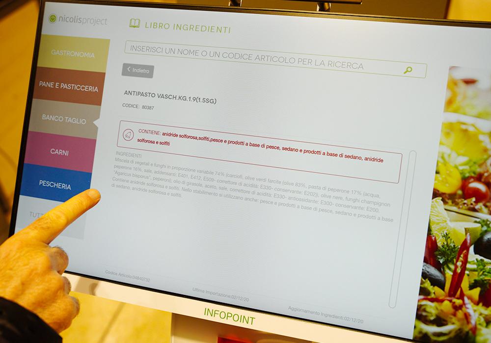 Nicolis Project | in-store digital communication nicolisproject-Coal-Fossato-di-Vico-6 COAL sceglie Nicolis Project e la comunicazione digitale per il nuovo supermercato eccoMi a Fossato di Vico