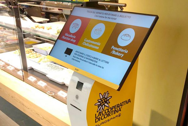 Nicolis Project | in-store digital communication nicolisproject-Despar-Cortina-4-600x403 L'Eurospar di Cortina d'Ampezzo sceglie le soluzioni di comunicazione digitale di Nicolis Project